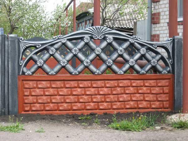 Оригинальное ограждение из бетона