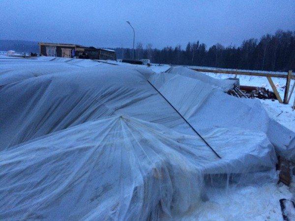 Особенности строительства ленточного фундамента зимой