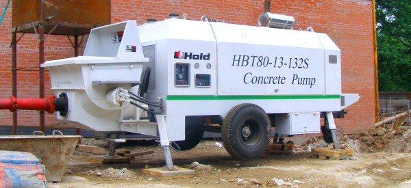 Передвижной насос для подачи бетона