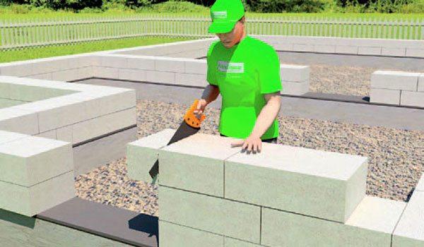 Подгонка газобетонных блоков