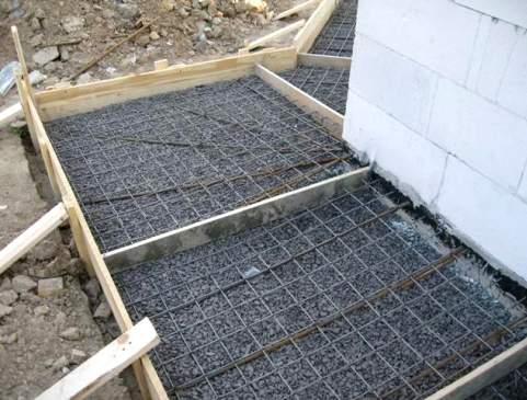 Подготовка к укладке бетона в опалубку отмостки