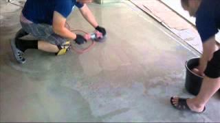 Полировка бетона с помощью УШМ