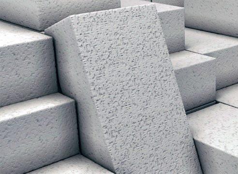 Полученные неавтоклавным способом газобетонные блоки