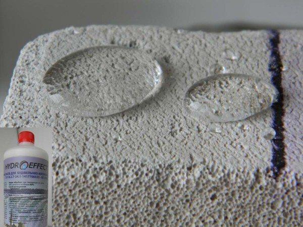 После таких обработок поверхность может получить водоотталкивающие свойства