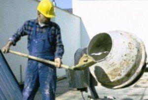 При приготовлении в бетономешалке можно рассчитывать соотношение в лопатах