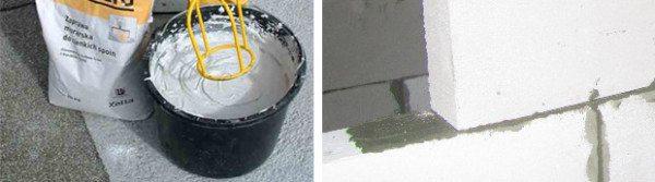 Применение серого морозостойкого состава
