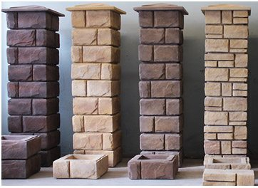 Пример декоративных возможностей секций из бетона
