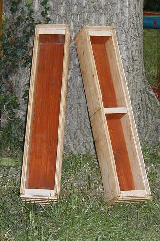 Пример деревянных пеналов для формирования блоков.