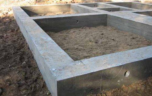 Пример фундамента, изготовленного на базе данной смеси.