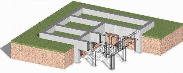 Пример фундамента со сложной формой.