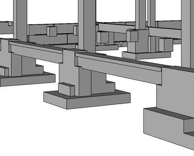 Пример конструкции со сборными опорами