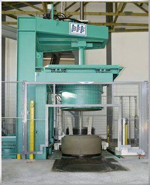 Пример нового и современного оборудования для выпуска железобетонных труб