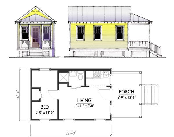 Пример одноэтажного строения