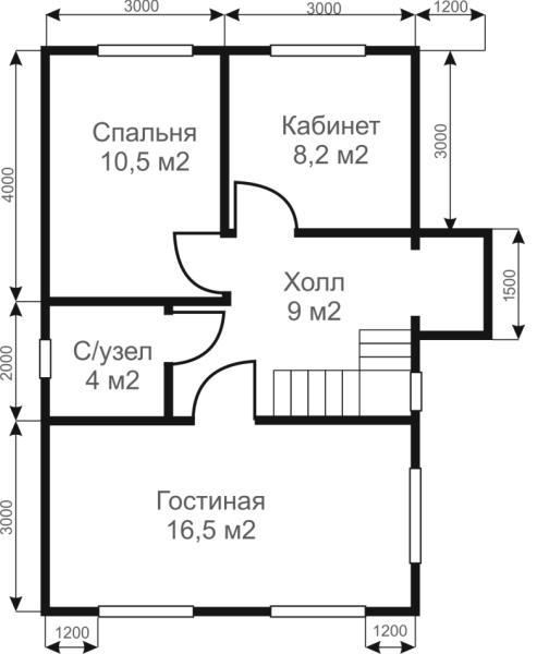 Пример планировки для будущего сооружения.