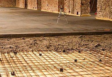 Пример структуры правильно сделанного бетонного пола