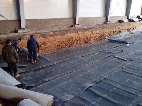 Прогрев бетона термоматами.