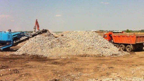 Производство вторичного щебня непосредственно на строительном участке