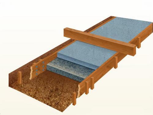 Проще всего выравнивать поверхность деревянным бруском по верхней части опалубки