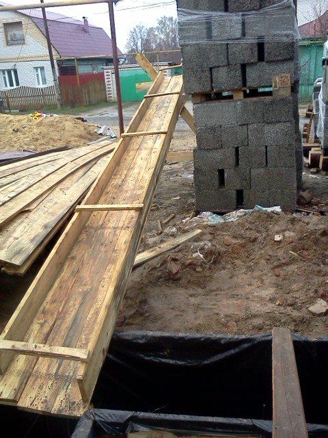 Лоток для заливки бетона своими руками