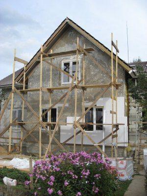Процесс утепления фасада