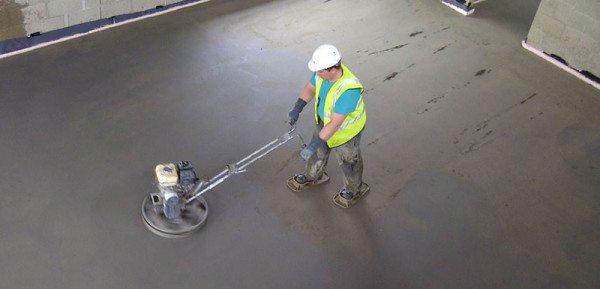 Процесс железнения покрытия после заливки