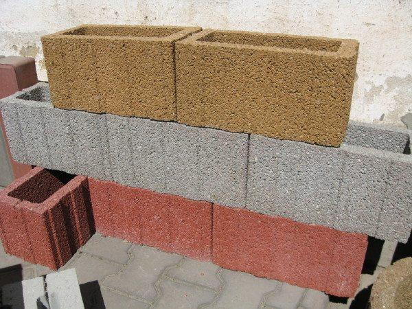 Прямоугольные формы для цветников из бетона