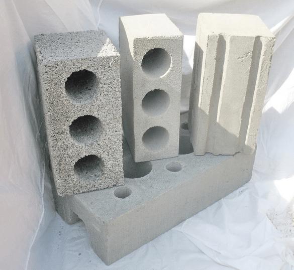 Пустотелые блоки.