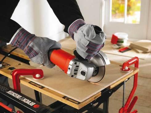 Рабочая поверхность должна быть надежно зафиксирована, плотно прижата