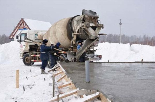 Работа с раствором в мороз