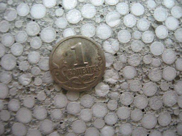 Размер гранул в блоке.
