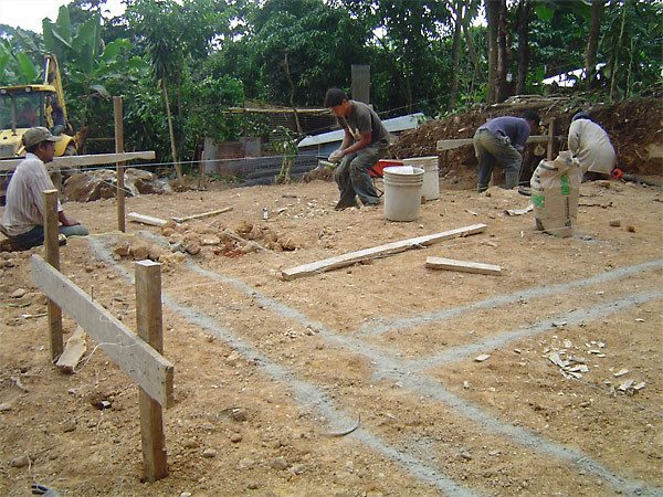 Разметка строительной площадки