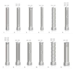 Разнообразные бетонные столбики ограждения