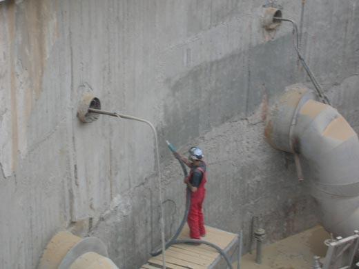 Ремонт бетонного сооружения