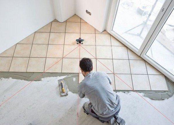 Ровный бетон позволяет укладку кафеля