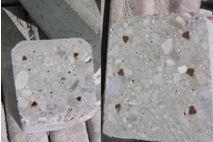 Сечение шпалерного столба, произведённого из предварительно напряженного железобетона