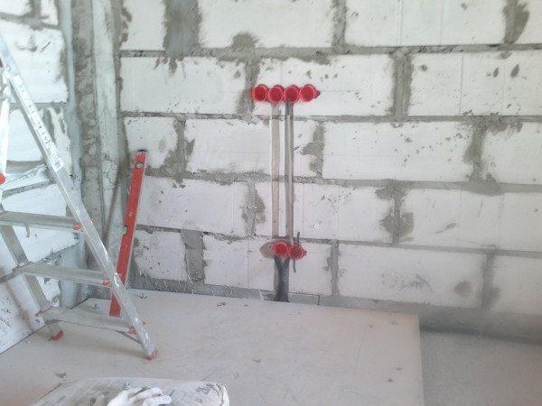 Шахматный порядок газоблоков для увеличения прочностных характеристик стены