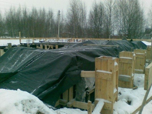 Шатер для защиты бетонной конструкции