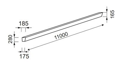 Схема - железобетонная стойка СВ110 – 5