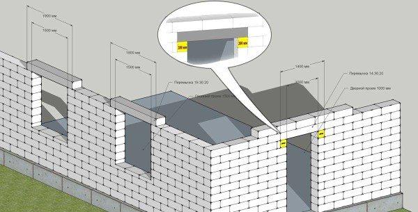 Схема монтажа балок