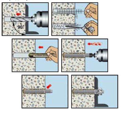 Схема монтажа химического газобетона