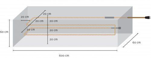 Схема расположения кабеля
