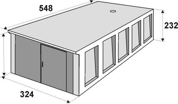 Схематическое изображение стандартного монолитного сооружения