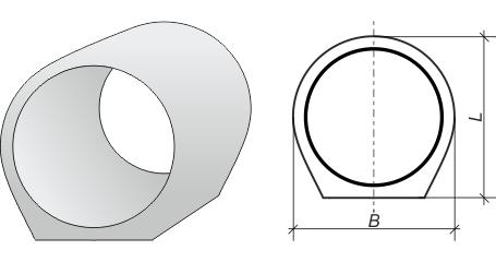 Схематическое изображения звена, которое связывает между собой трубы