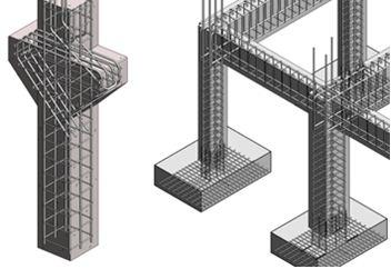 Схемы армирования вертикальных конструкций
