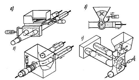 Схемы распределения клапанов с использованием различных конфигурации конструкции