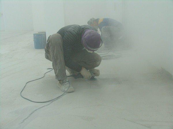 Шлифовка бетонного пола своими руками в домашних условиях