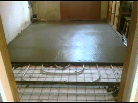 Система тёплого пола в бетоне