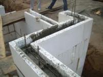 Строительство из пористых блоков.