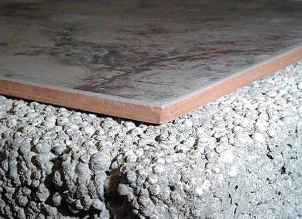 Структура цементного раствора с керамзитом