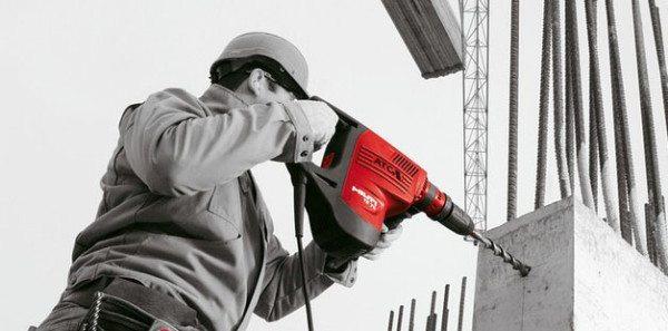 Сверление можно начинать только после набора бетоном прочности